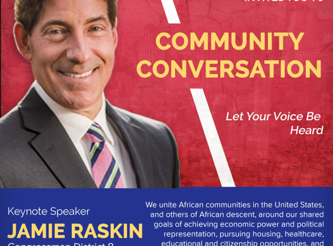 Community Conversation with Congressman Jamie Raskin
